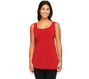 Susan Graver Essentials Liquid Knit Scoop Neck Tank Top - A231520