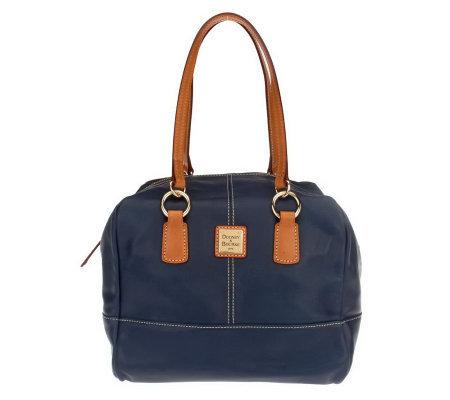Dooney amp bourke lambskin leather duffle satchel