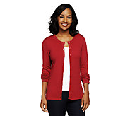 Linea by Louis DellOlio Posh Knit Silk Cashmere Cardigan - A238520