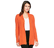 Linea by Louis DellOlio Boucle Knit Open Front Cardigan - A239320