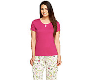 Jockey Separates Cap Sleeve Keyhole Pajama Top - A255820