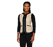 SA by Seth Aaron Faux Leather Quilted Vest - A262720