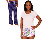 Jane & Bleecker Jersey Knit 3-Piece PJ Set - A264420