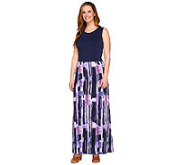 Lisa Rinna Collection Petite Printed Sleeveless Maxi Dress - A264720