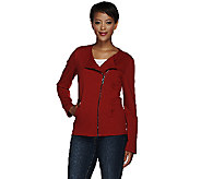 Susan Graver Weekend Zip Front Motorcycle Jacket - A266820