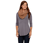 Layers by Lizden Marvelush Waffle Knit Infinity Scarf - A267220
