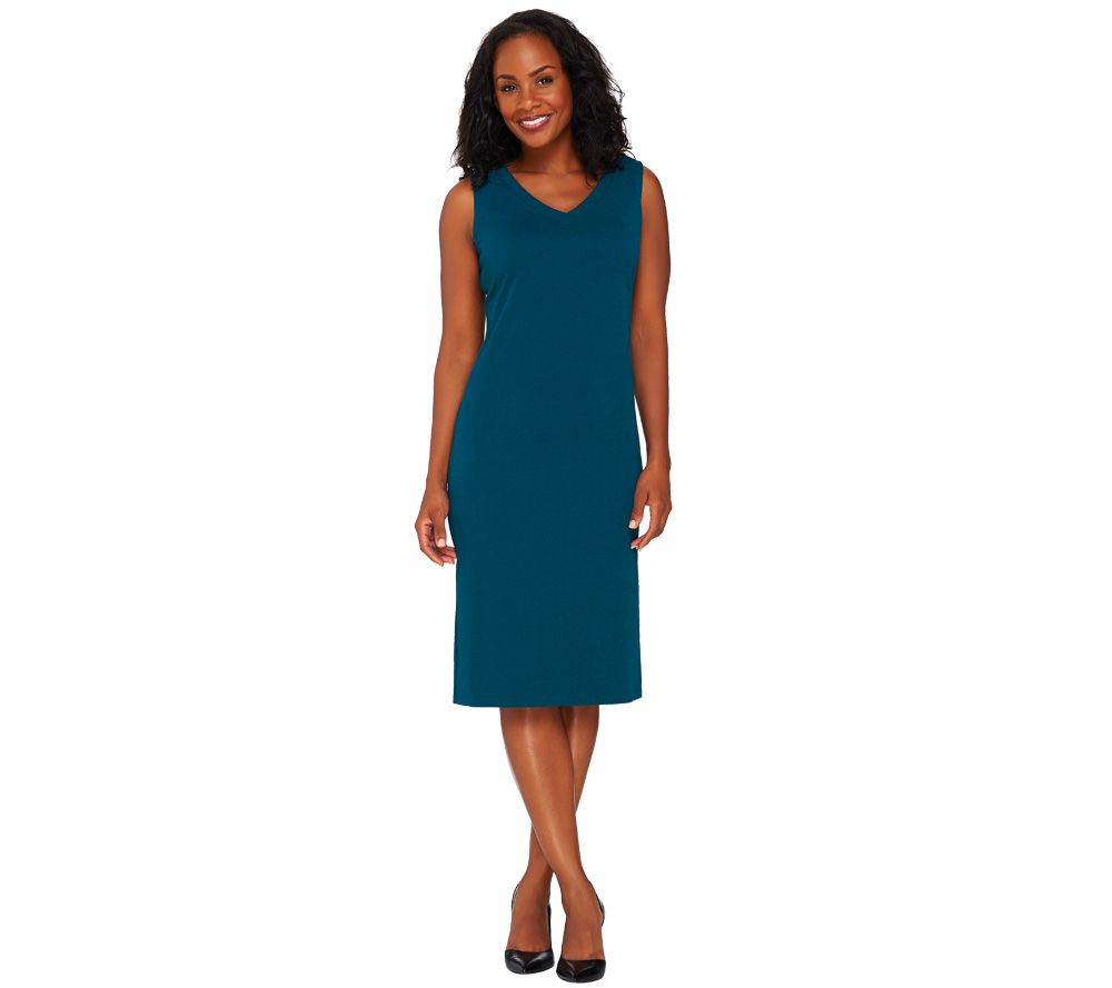 Susan Graver Passport Knit Sleeveless Sheath Dress - A268020