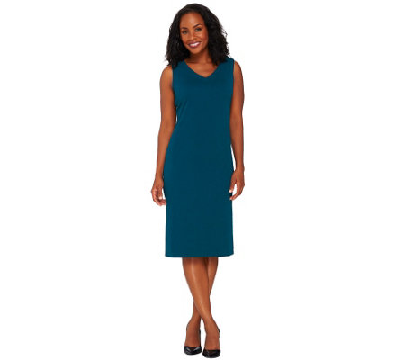 Susan Graver Passport Knit Sleeveless Sheath Dress