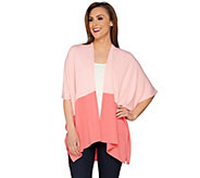 Tashon Sweater Knit Jersey Color Block Cardigan - A274420
