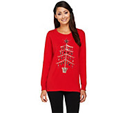 As Is Quacker Factory Yuletiddings Pullover Sweater - A278120
