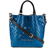 As Is Dooney & Bourke Small Woven Embossed Leather Barlow Satchel - A279220