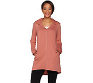 Linea Leisure by Louis DellOlio Snap Front Hooded Tunic - A279520