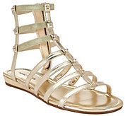 As Is Marc Fisher Leather Gladiator Sandals w/Studs - Pritty - A285520