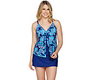Ocean Dream Signature Paisley Charm Fly Away Tankini - A288820