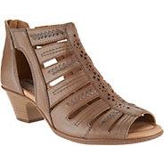Earth Leather Multi-strap Peep-toe Booties - Vela - A289720