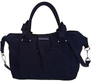 As Is Vera Bradley Microfiber Hadley Satchel Handbag - A298720