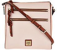As Is Dooney & Bourke Pebble Leather Triple Zip Crossbody Handbag - A300420