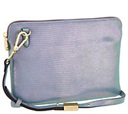 G.I.L.I. Leather Iridescent Crossbody Pouch Handbag - A301220