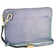 G.I.L.I. Leather Iridescent Crossbody Pouch Handbag - A301220