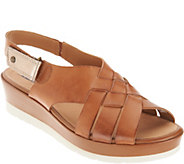 Earth Leather Wedge_Sandals - Sunflower - A304220