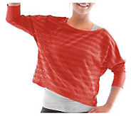 Ryka Womens Flow Dolman Stripe Mesh Top - A326920