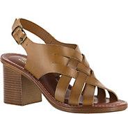 Bella Vita Leather Block Heel Sandals - Max - A357020