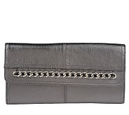 B.Makowsky Glove Leather Wallet with Chain Detail - A211721