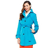 Joan Rivers All About Color Water Resistant Trench Coat - A230521