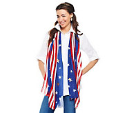 Joan Rivers Patriotic Star Spangled Sequin Scarf - A232321