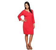 Liz Claiborne New York Essentials Split Neck Knit Dress - A255521