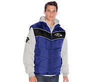 NFL Mens Fleece Hoodie and Vest - A255721