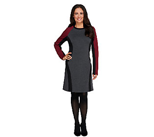 View by Walter Baker Long Sleeve Color Block Knit Dress