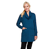 Lisa Rinna Collection Shawl Collar Knit Tunic with Pockets - A256721
