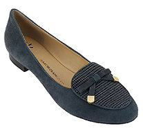 Isaac Mizrahi Live! Menswear Suede Loafers with Bow - A258221