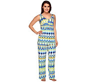 Carole Hochman Abstract Ikat Knit Jersey 2-Piece Pajama Set - A262421