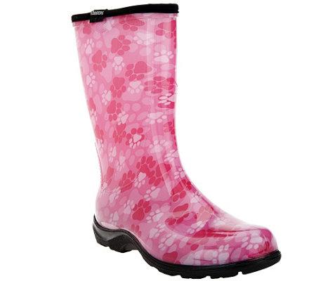 sloggers waterproof paw print garden boot w comfort
