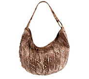 As Is Hobo Woven Leather Entwine Hobo with Gradient Color - A266621
