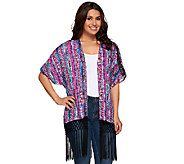 Whitney Port Kimono with Fringe Trim Detail - A267221