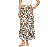 As Is Denim & Co. Printed Jersey Skirt with Flounce - A274721
