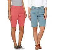 Denim & Co. How Modern 5-Pocket Bermuda Shorts - A275421