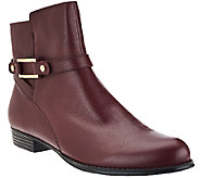 As Is Isaac Mizrahi Live! Leather Ankle Boots with Buckle Details - A275621
