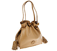 As Is orYANY Pebble Leather Drawstring Crossbody Bag - Jamie - A275921
