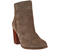As Is Sole Society Leather Ankle Boots w/ Snap Detail - Henley - A281021
