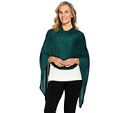 LOGO by Lori Goldstein Sweater Knit Poncho - A283021