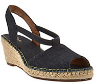 As Is Clarks Artisan Espadrille Wedge Slip-on Sandals - A284721