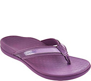 As Is Vionic Orthotic Leather & Mesh Thong Sandals - Tide II Ombre - A287421