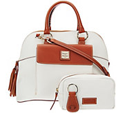 As Is Dooney & Bourke Pebble Leather Aubrey Satchel with Accessories - A292521