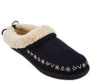 As Is Clarks Faux Shearling Clog Slippers - A293221