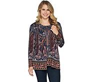 Susan Graver Printed Sweater Knit Cardigan Set - A293621