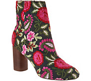 Sole Society Novelty Printed Heeled Ankle Boots - Mulholland - A294221